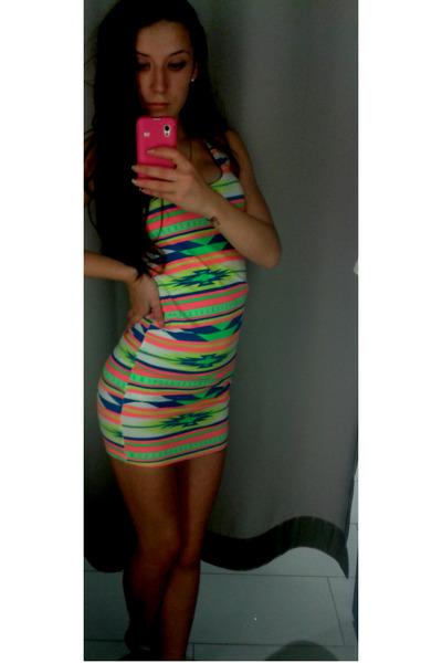 aquamarine fishbone dress