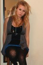 H-m-dress-unknown-vest-urban-outfitters-belt-forever-21-necklace