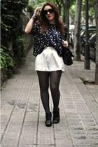H&M shorts - H&M t-shirt - Primkar wedges