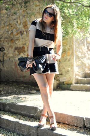 h&m divided dress - asos bag - H&M sandals