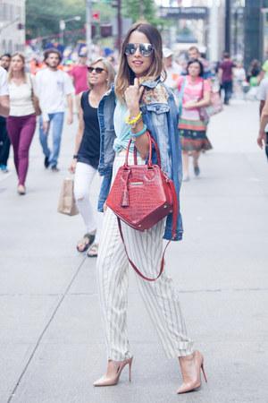 Jacqueline Suriano bag - dior sunglasses - Polo Ralph Lauren pants