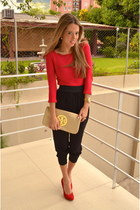 tory burch bag - Zara sweater - Forever 21 pants - Steve Madden heels