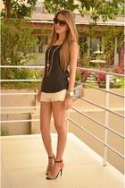 crochet Zara shorts - Steve Madden bag - Zara heels