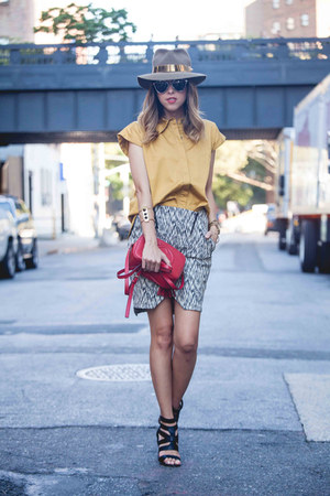 by souf hat - Gucci bag - dior sunglasses - THE P top