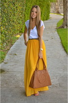 Stradivarius skirt - tory burch bag - Zara belt - Michael Kors watch