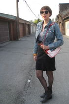 Gap jacket - American Apparel t-shirt - American Apparel skirt - vintage belt -