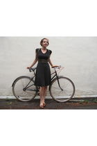 vintage dress - HARNESS - vintage shoes - Bike