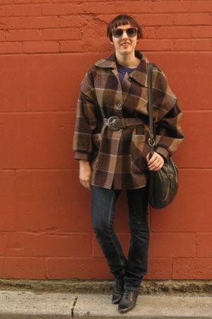 vintage jacket - thrifted jeans - vintage boots - thrifted belt - vintage sungla