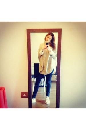 jumper - Converse shoes - shirt - Zara pants