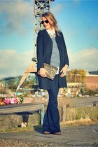navy mih jeans - navy COS coat - dark khaki Zara bag