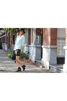 black H&M Trend skirt - Alexander Wang bag - aquamarine H&M Trend jumper