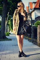 army green maison scotch jacket - black Sacha boots - black Michael Kors bag