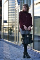 crimson Zara jumper - black Michael Kors bag - silver t by alexander wang skirt