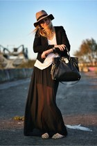 black Zara blazer - black Michael Kors bag - black Topshop skirt