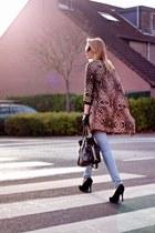 brown H&M Trend coat - sky blue Cheap Monday jeans