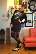 leg avenue tights - government t-shirt - Club Monaco skirt - Jeffrey Campbell