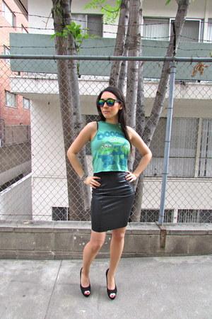 pleather Topshop skirt