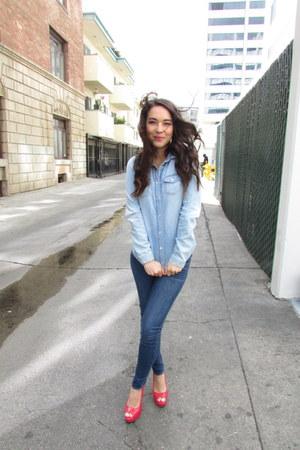 denim Topshop shirt - skinny jeans Gilly Hicks jeans