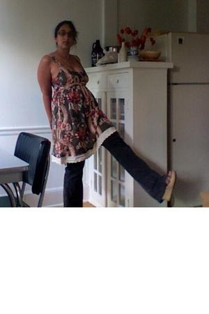 free people dress - elle jeans - Mia shoes
