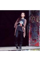 Zara shirt - Bugatti boots - Topshop cardigan - Vero Moda pants