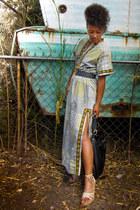 100 cotton unknown brand dress - leather bag Rebecca Minkoff bag