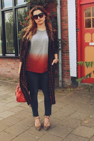 Zara shirt - karen miller bag - Zara heels