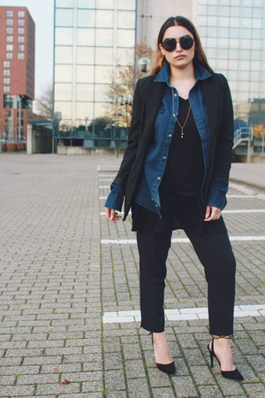 vintage blazer - Forever 21 heels