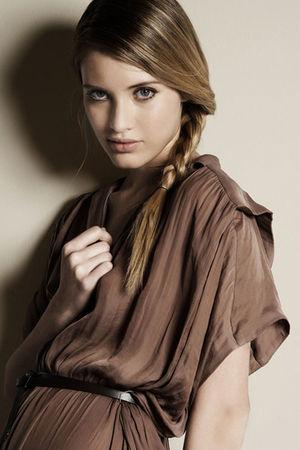 brown Zara top