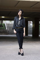 American Apparel pants - black Erin Wasson x RVCA shirt - Elizabeth & James shoe