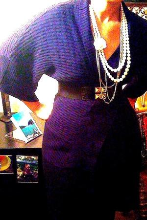 forever 21 sweater - forever 21 necklace - forever 21 belt - Target skirt