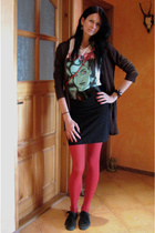 More&More sweater - GINA TRICOT t-shirt - GINA TRICOT skirt - vintage belt - Acc