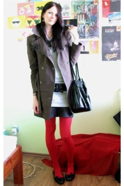 Vero Moda coat - Vero Moda blouse - Estici skirt - Accessorize tights - LiNK sho