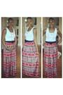 Vintage-skirt-forever-21-top