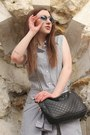 Periwinkle-zara-dress-black-d-g-bag-periwinkle-ray-ban-sunglasses