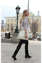 white transparent Marc by Marc Jacobs bag - black leather carlo pazolini boots
