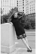black Giuseppe Zanotti shoes - black Mari Axel dress