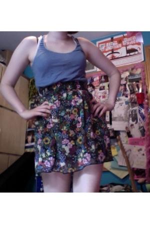 Thrift Store top - Target skirt