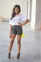 Pimkie shorts - Sacha heels - new look top