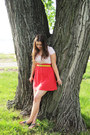 Red-h-m-dress-yellow-waist-belt-targe-belt-gray-t-strap-old-navy-sandals-g