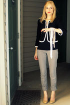 black H&M blazer - Old Navy t-shirt - gray Delias pants - beige Target shoes - w