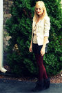 Beige-h-m-blazer-beige-h-m-shirt-black-zara-shorts-red-forever-xxi-tights-
