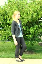 black Delias pants - gray New York & Company blazer - black Target shoes - blue