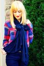Blue-h-m-scarf-red-american-eagle-shirt-blue-h-m-pants-black-forever-xxi-s