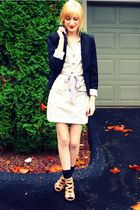 black H&M blazer - beige H&M dress - purple H&M belt - black Target socks - beig