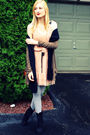 Green-american-eagle-cardigan-black-target-scarf-beige-target-dress-gray-t