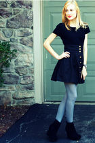 black Target sweater - black H&M skirt - gray H&M tights - black Bamboo shoes -