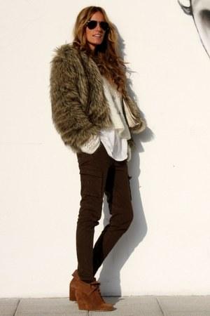 pull&bear boots - storets coat - Zara pants
