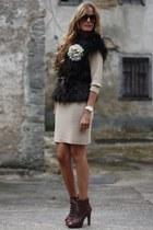 Zara dress - Queens Wardrobe dress - Nine West shoes