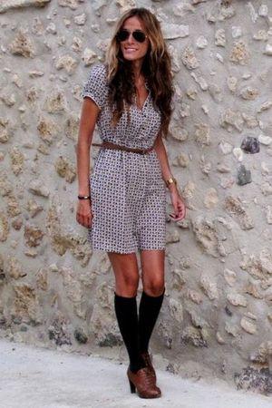 Zara dress - H&M socks - Adela Gil shoes - Ray Ban sunglasses