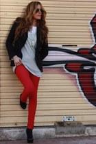 Zara blazer - Bershka jeans - GoJane heels - fashionology necklace